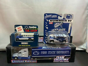 White Rose Penn State Diecast Lot Tractor Truck With Trailer Hummer & Bus New