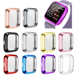 For Fitbit Versa 2 Watch Slim Full Screen Protector Protect Bumper Case Cover
