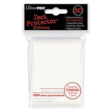 50 Ultra Pro Solid WHITE Deck Protector CCG MTG Pokemon Gaming Card Sleeves