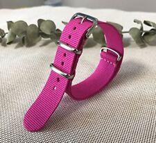 Cinturino In Nylon Universale Ricambio Orologio Larghezza 18mm Rosa lac