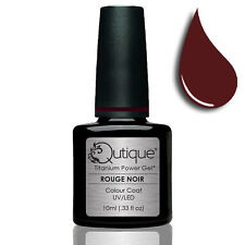 QUTIQUE Gel Nail Polish Colour -ROUGE NOIR -UV & LED -deep red NEW RELEASE