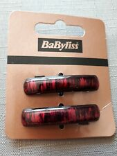 Babyliss  Pair Maroon & Black Small Barrette Hair Pin Clip Grip Slides Gift.