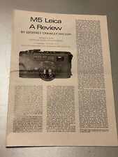 M5 Leica A Review, By Geoffrey Crawley, 12 Pages