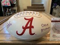 CJ Mosley Autographed/Signed Football JSA COA  Alabama Crimson Tide Ravens C.J.
