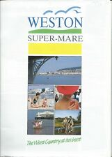 WESTON SUPER MARE 1990 Official Holiday Guide & MAP illustrated info adverts A4