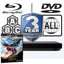 Sony UBP-X700 Full à plusieurs régions 4K Ultra HD Lecteur Blu-ray Spiderman Homecoming