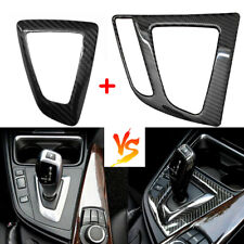 Carbon Fiber Gear Shift Panel Interior Trim Sticker For BMW 325i 328i 428i 435i
