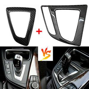 Carbon Fiber Gear Shift Panel Interior Trim Sticker For BMW 325i 328i 428i 435i