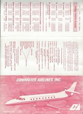 Commuter Airlines (NY) June 1 1978  timetable
