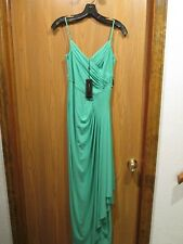 BCBG MAXAZRIA Emerald Long Sleeveless Silk Maxi Dress Long Gown SZ XXS
