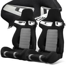 Blackgrey Pineapple Fabric Leftright Recaro Style Racing Bucket Seats Slider