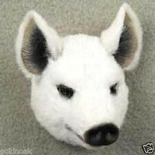 WHITE PIG! Collect Fur Refrigerator Magnets (Handcrafted & Hand painted)