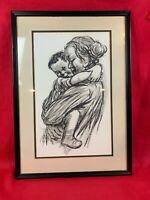 Kathe Kollwitz Famous Artist Lithograph Print Mother & Child Fine Art FRAME 430