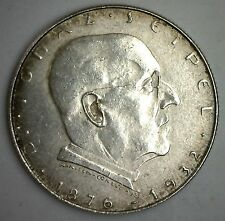 1933 Austria Silver 2 Schilling Coin Austrian Currency Almost Uncirculated AU