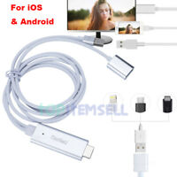 USB MHL To HDMI 1080P TV Adapter Cable HD For Samsung Galaxy S8 S7 iPhone 11 X 8