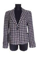 Women's EMPORIO ARMANI Grey Check Wool Blend Blazer Jacket Size 14 / 48