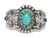 Turquoise Bracelet Tribal Bracelet Silver Bracelet Tibetan Bracelet Boho
