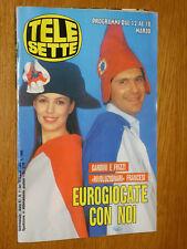 TELESETTE 1989/11=ELISABETTA GARDINI FABRIZIO FRIZZI=ENZO BIAGI=ILARIA OCCHINI=