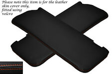 ORANGE STITCH 2X SUN VISORS LEATHER COVERS FITS MERCEDES W108 STACKLIGHT 65-72