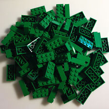100 *NEW* LEGO 2x4 Dark Green (Green) Bricks (ID 3001) BULK Blocks minecraft