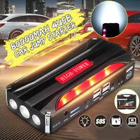Car ortable Car Jump Starter 4 USB Booster Jumper ower Bank Battery  ! @