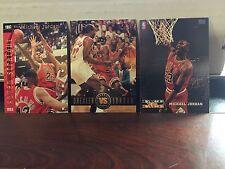 1990's Michael Jordan Famous Duos 3 Piece Insert Card Lot