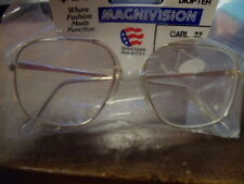 """NEW MAGNIVISION  +1.75 GOLD FRAME """"CARL"""" READERS"""