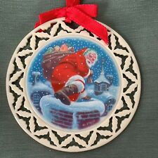 Lenox Wreath Ornament Santa's Arrival Portrait 1992