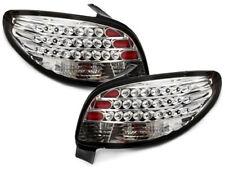 Coppia fari fanali posteriori TUNING PEUGEOT 206 98-05 3/5 porte LED CROMATI
