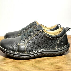BORN W3440 Women's Size 8 Brown Leather Lace Up Padded Walking Comfort Shoes