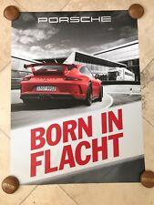 "Porsche Original Factory Poster - 911 | 991.2 GT3 ""Born in Flacht"""
