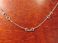 Tolles 925 Silber Collier Kette Sterling Steigbügel Reiten Reitsport Glieder Top