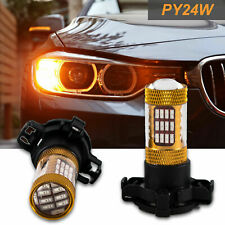 LED Amber Error Free PY24W 5200s 60-SMD Bulbs For BMW Front Turn Single Lights