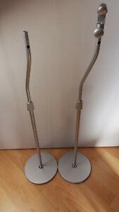 1 Paar Teufel Lautsprecherständer Silber M 50 P Consono Concept