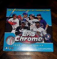 🔥2020 MLB TOPPS CHROME UPDATE SERIES BLUE BOX BASEBALL NEW FACTORY SEALED 🔥