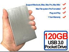 New Avolusion 120GB USB 3.0 Portable External Hard Drive for Mac, iMac, MacBook