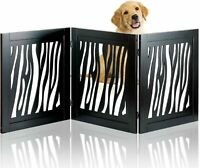 Safety Pet Gate for Dogs Free-Standing Foldable Decorative Wooden Fence Barrier