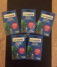 Lycamobile Sim Karte Triple Sim (registriert aktiv) 2,5€ Nach Erste Aufladung