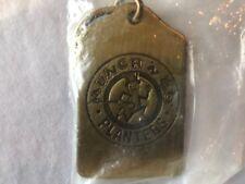 Vintage Planters Mr Peanut Munch N Go Brass Key Chain Ring MIP