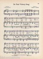 """Vintage DE PAUW UNIVERSITY song /"""" A Toast to De Pauw/"""" GREENCASTLE INDIANA"""