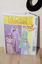 McCalls M5207 SEWING PATTERN 3-6 Girl's Medieval/Renaissance Dress Hat Princess