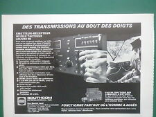 5/1979 PUB SOUTHCOM EMETTEUR RECEPTEUR TACTIQUE HF/BLU AN/URC-96 ARMY FRENCH AD