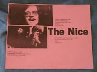 1970 The Nice concert handbill Keith Emerson ELP