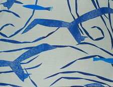 DONGHIA Santorini blue  fish polyester Remnant New