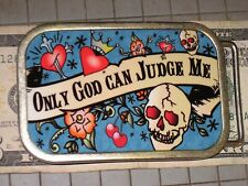 Collect Hot Buckles Only God Can Judge Me Heart Jesus Crown Skull Tattoo Belt OK