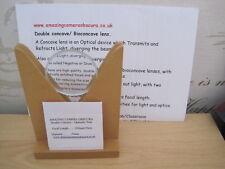 50mm Double Concave / Bioconcave Glass Lenses - Focal Length 200mm/20cm