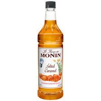 Monin Salted Caramel Flavored Syrup, 1 Liter -- 4 per case.
