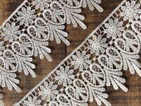White Teardrop Venise Guipure Lace Trim 1cm sewing crafts laverslace