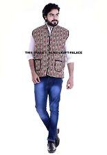 Indian Cotton Machine Quilted Reversible Man Blazer Coat Ethnic Jacket Overcoat