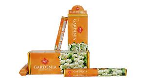 IBCO Gardenia Hexa Incense Sticks, 20 Sticks per pack (6 packs) = 120 sticks